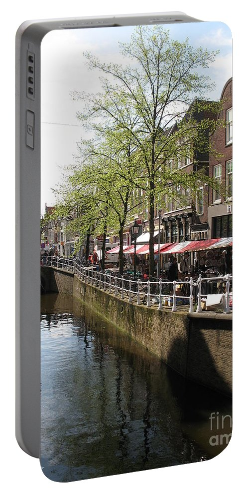 Town Canal Portable Battery Charger featuring the photograph Town Canal - Delft by Christiane Schulze Art And Photography