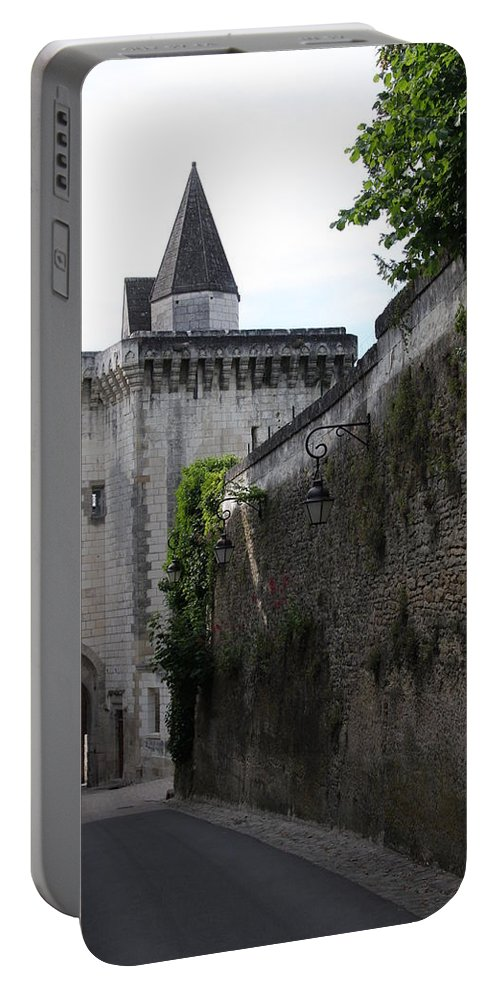Town Gate Portable Battery Charger featuring the photograph Town Gate - Loches - France by Christiane Schulze Art And Photography