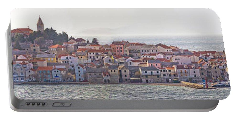 Croatia Portable Battery Charger featuring the photograph Town Of Primosten Panoramic View by Brch Photography