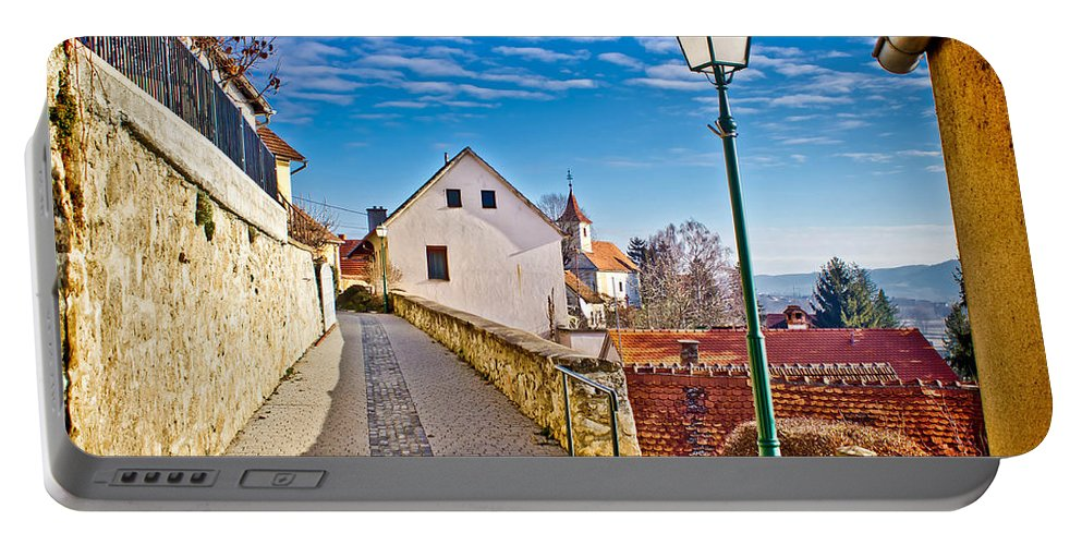 Croatia Portable Battery Charger featuring the photograph Town Of Varazdinske Toplice Walkway by Brch Photography