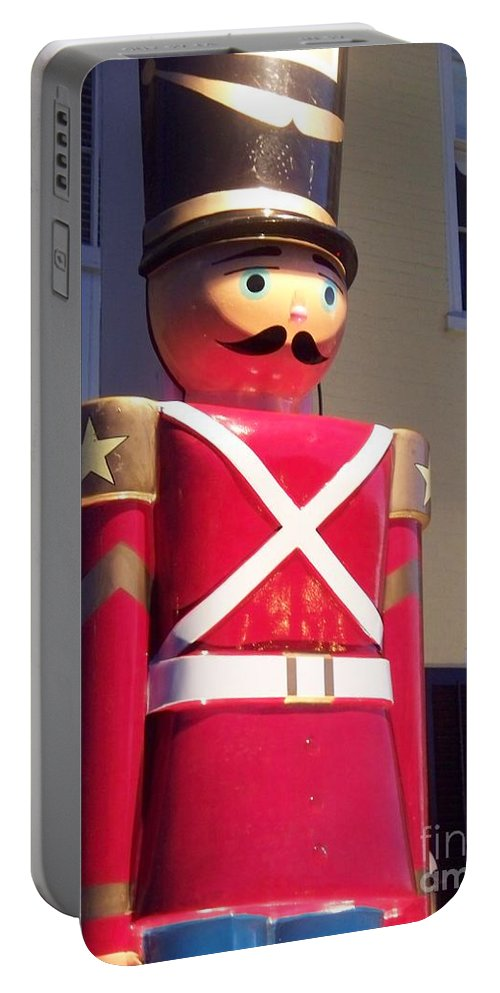 Toy Soldier Portable Battery Charger featuring the photograph Toy Christmas Soldier by Eric Schiabor