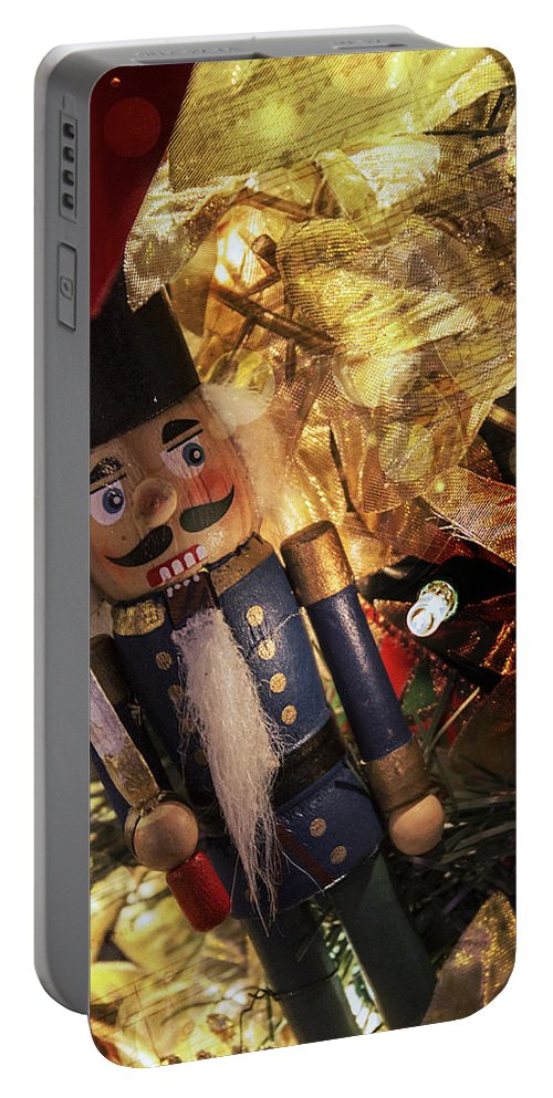 Christmas Portable Battery Charger featuring the photograph Toy Soldier by Robin Lewis