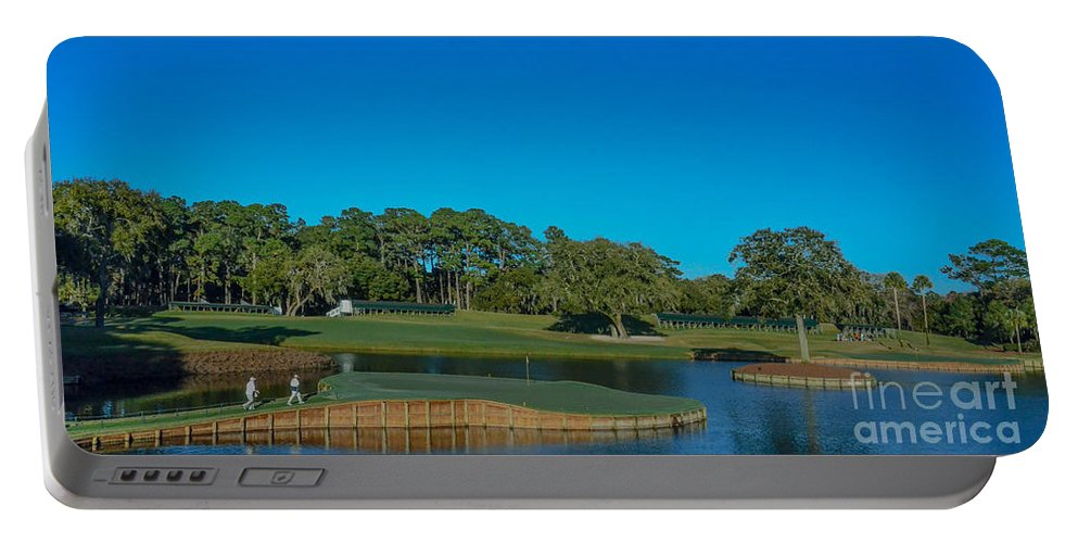 Tpc Sawgrass Portable Battery Charger featuring the photograph Tpc Sawgrass Island Green by Randy J Heath