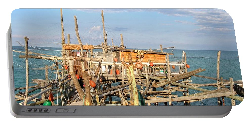 Trabocco Portable Battery Charger featuring the photograph Trabocco 2 by Marcello Cicchini