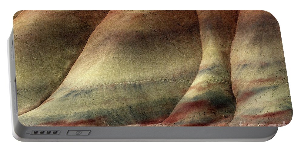 Painted Hills Portable Battery Charger featuring the photograph Traces Of Life by Mike Dawson