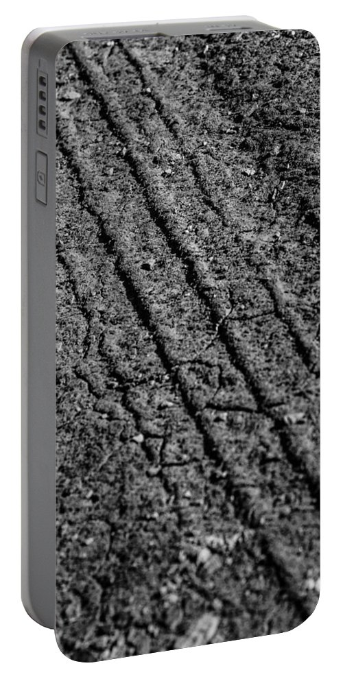 Moab Portable Battery Charger featuring the photograph Tracks by Angus Hooper Iii