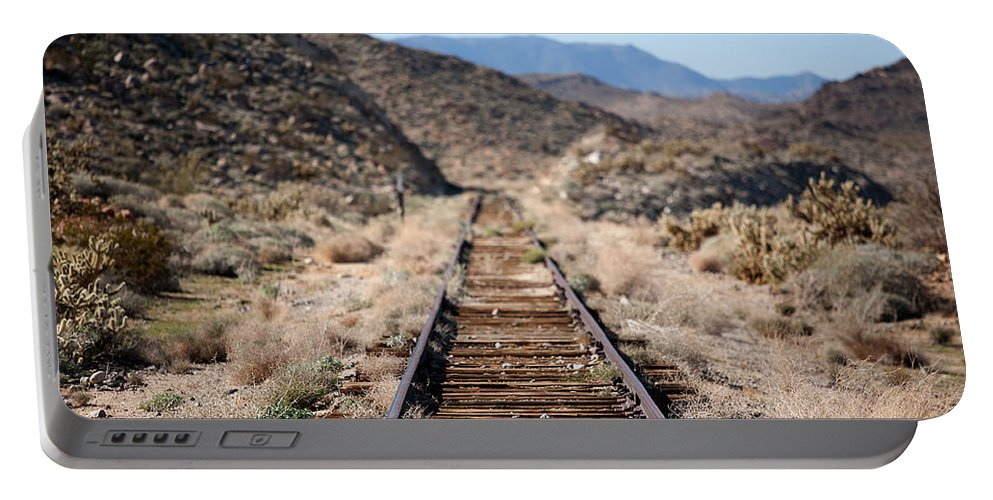 Train Tracks Portable Battery Charger featuring the photograph Tracks To Nowhere by Peter Tellone