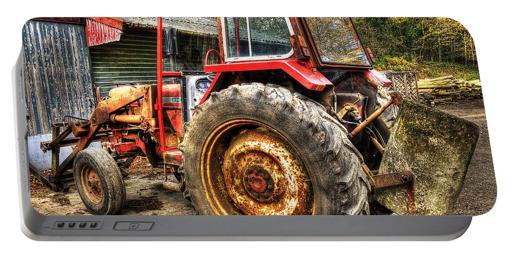 Tractor Portable Battery Charger featuring the photograph Tractor by Svetlana Sewell