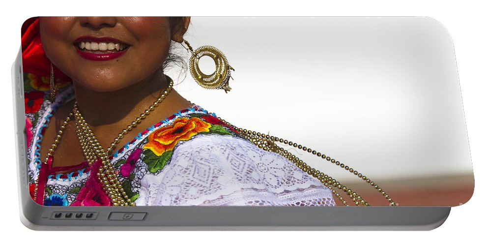 Chiapas Portable Battery Charger featuring the photograph Traditional Ethnic Dancers In Chiapas Mexico by David Smith