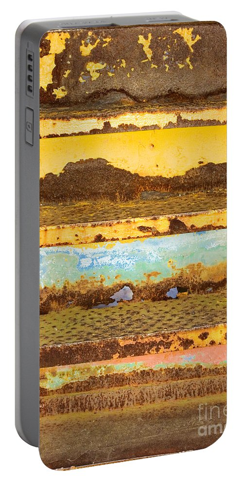 Elkhart Portable Battery Charger featuring the photograph Train Art by Gary Richards