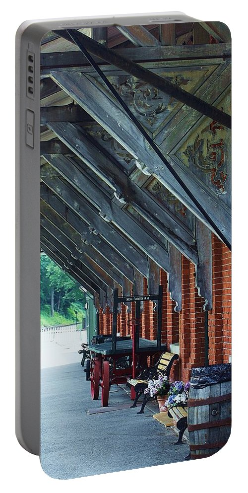 Train Portable Battery Charger featuring the photograph Train Station by Chuck Hicks