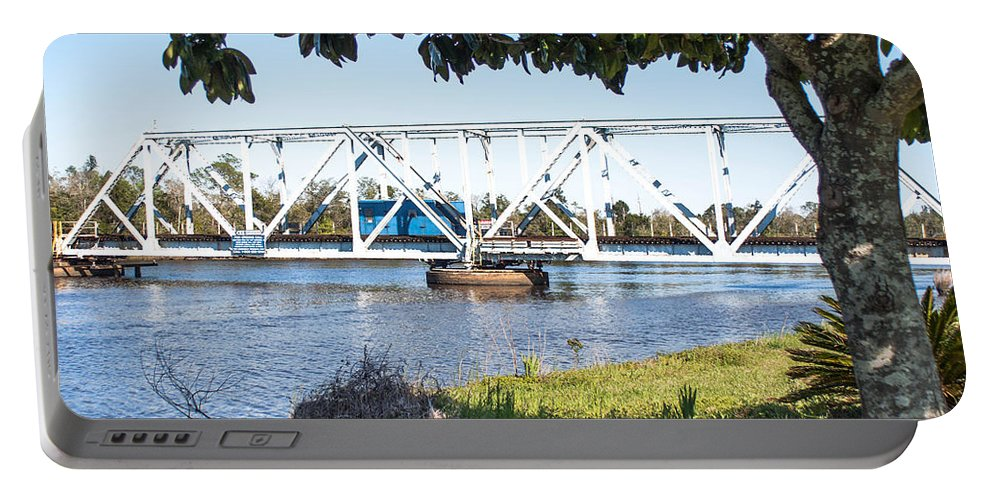 Train Trestle Portable Battery Charger featuring the photograph Train Trestle 3 by Mechala Matthews