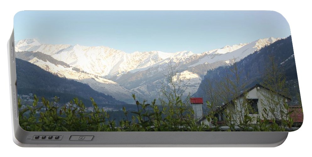 Mountain Portable Battery Charger featuring the photograph Tranquil - At Its Best by Ramabhadran Thirupattur