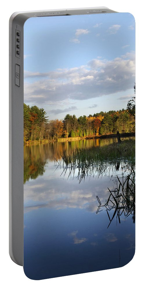 Tranquil Portable Battery Charger featuring the photograph Tranquil Autumn Landscape by Christina Rollo