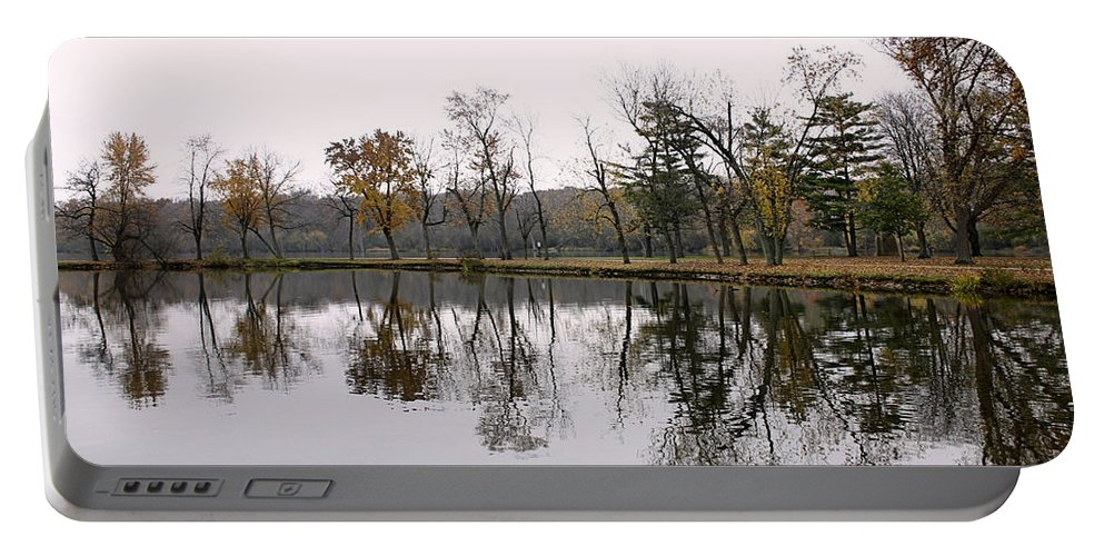Lake Portable Battery Charger featuring the photograph Tranquil Reflections by Ely Arsha