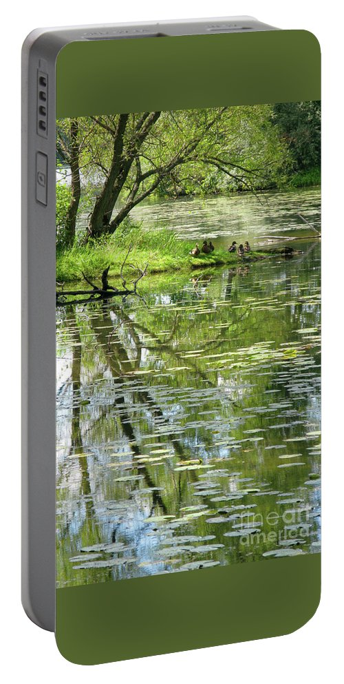 Reflection Portable Battery Charger featuring the photograph Tranquility by Ann Horn