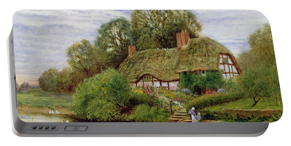 Tranquility Portable Battery Charger featuring the painting Tranquility by Arthur Claude Strachan