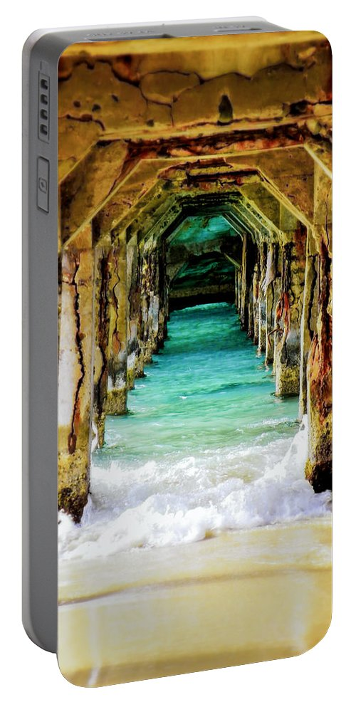 Waterscapes Portable Battery Charger featuring the photograph Tranquility Below by Karen Wiles
