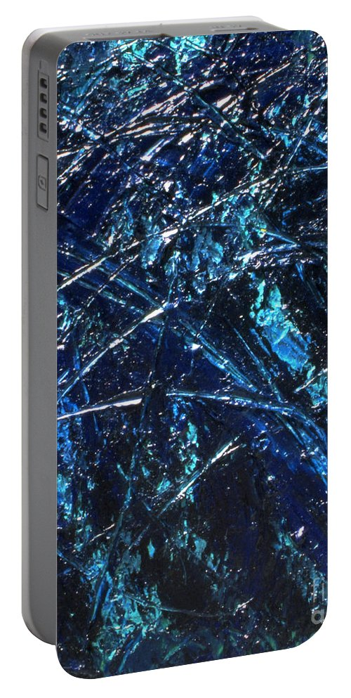 Abstract Portable Battery Charger featuring the painting Transitions I by Dean Triolo