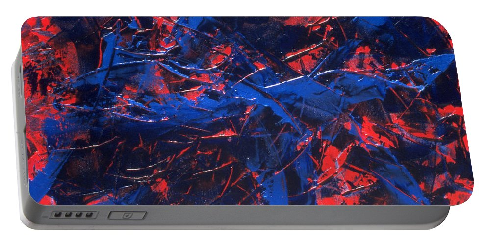 Abstract Portable Battery Charger featuring the painting Transitions Iv by Dean Triolo