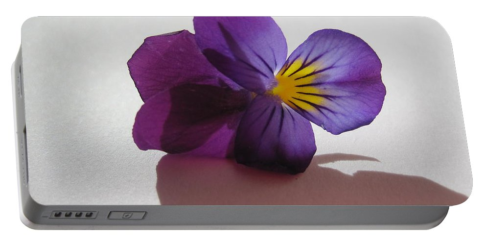 Floral Portable Battery Charger featuring the photograph Transparency 2 by Tara Shalton