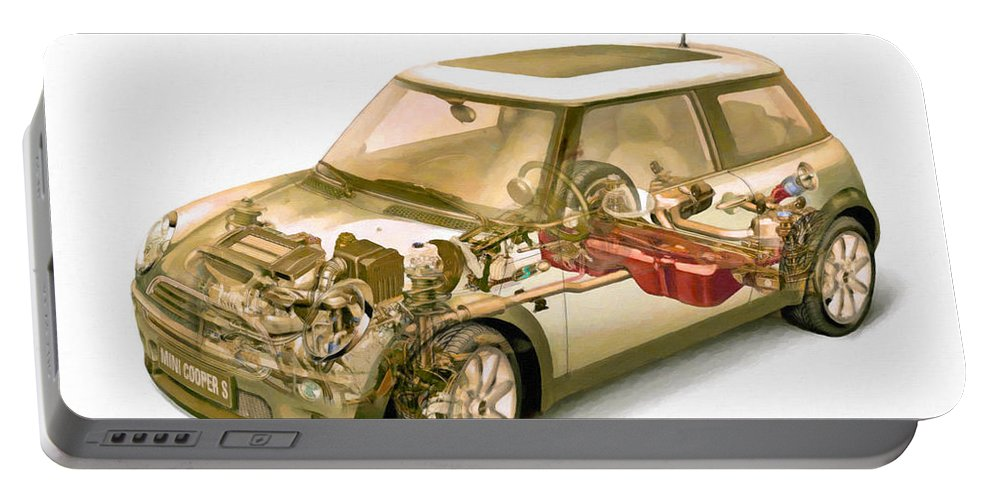 Car Portable Battery Charger featuring the painting Transparent Car Concept Made In 3d Graphics 5 by Jeelan Clark