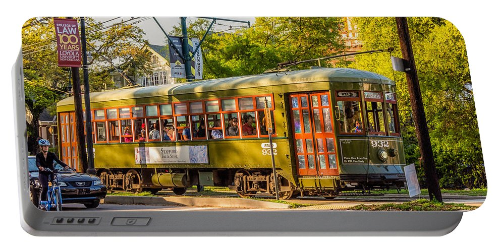 Garden District Portable Battery Charger featuring the photograph Traveling In New Orleans by Steve Harrington