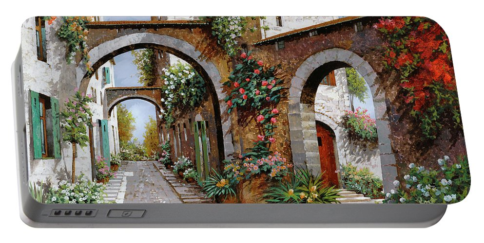 Arches Portable Battery Charger featuring the painting Tre Archi by Guido Borelli