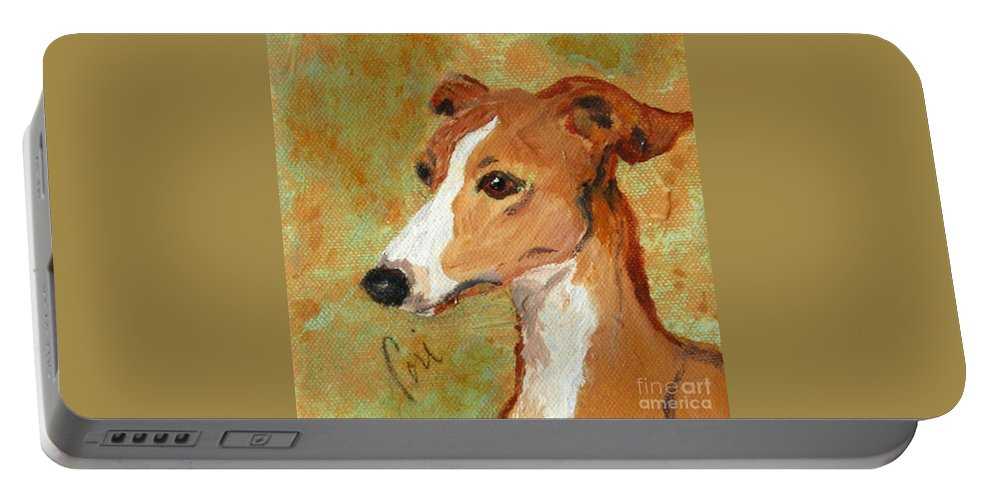 Acrylic Portable Battery Charger featuring the painting Treasured Moments by Cori Solomon