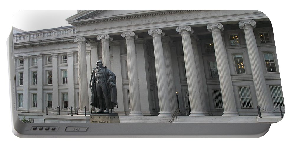 Treasury Department Portable Battery Charger featuring the photograph Treasury Department Washington Dc by Christiane Schulze Art And Photography