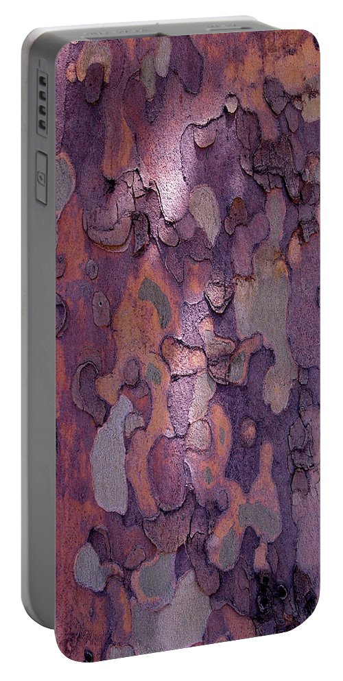 Abstract Portable Battery Charger featuring the photograph Tree Abstract by Rona Black