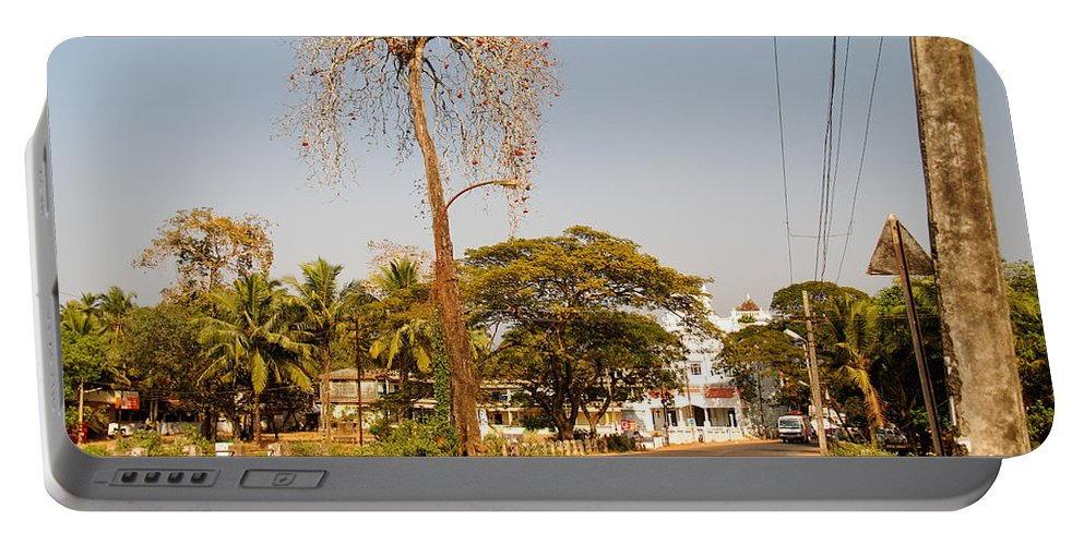 Colva Portable Battery Charger featuring the digital art Tree In Goa by Carol Ailles