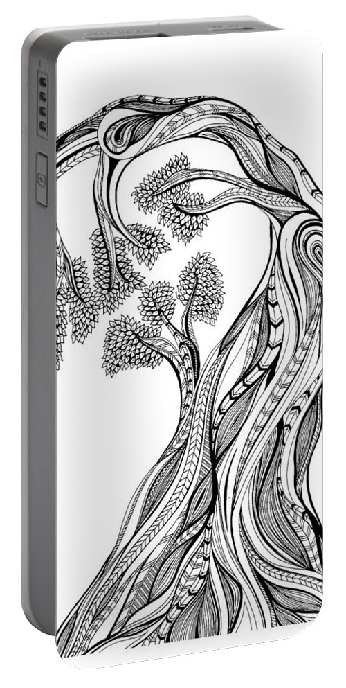 Tree Portable Battery Charger featuring the drawing Tree Of Life by Melissa Smith