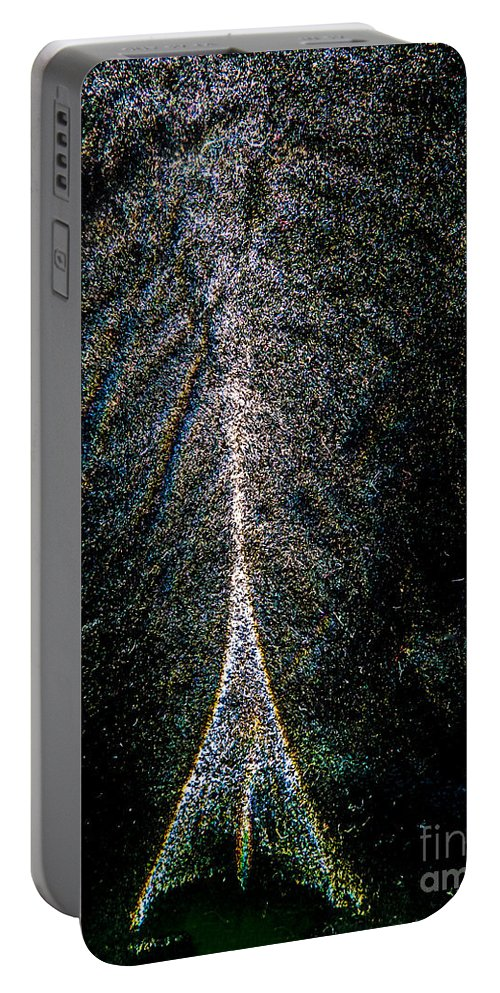 Writing With Light Portable Battery Charger featuring the photograph Tree Of Light by Casper Cammeraat