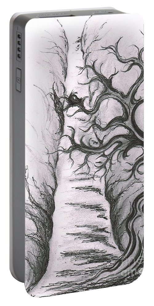 Teresa White Portable Battery Charger featuring the drawing Tree Of Love by Teresa White