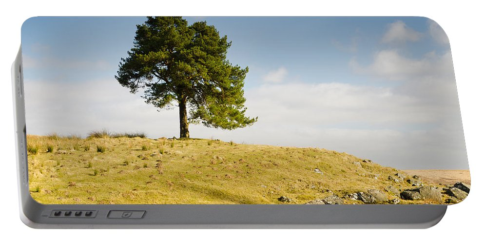 Countryside Portable Battery Charger featuring the photograph Tree On A Hill by David Head