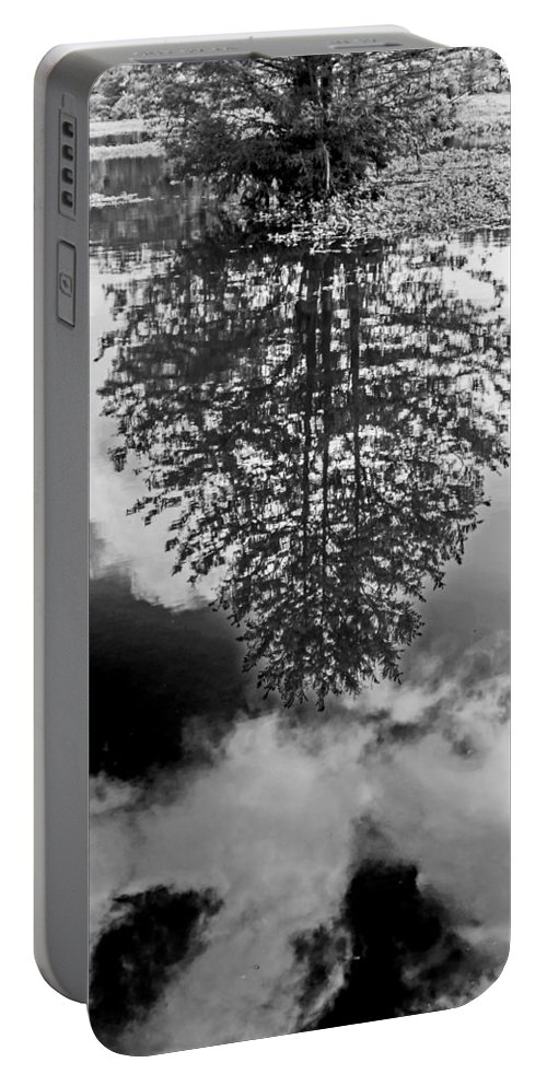 Vernon Lake Portable Battery Charger featuring the photograph Tree Reflected by Ken Frischkorn