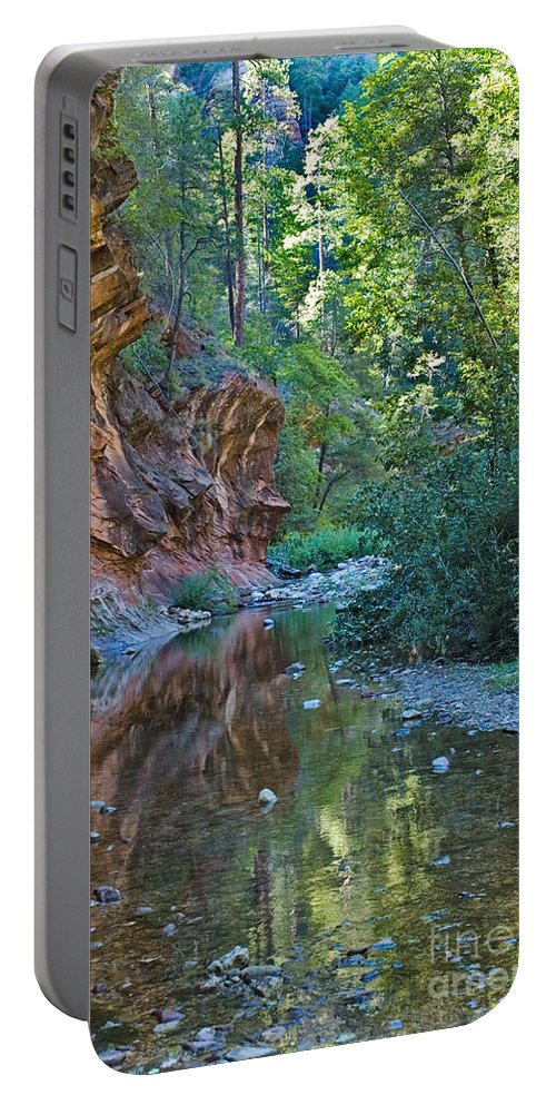 Tree Reflection Was Photographed In Oak Creek Canyon In Sedona Arizon Digital Images Portable Battery Charger featuring the photograph Tree Reflection by Mae Wertz