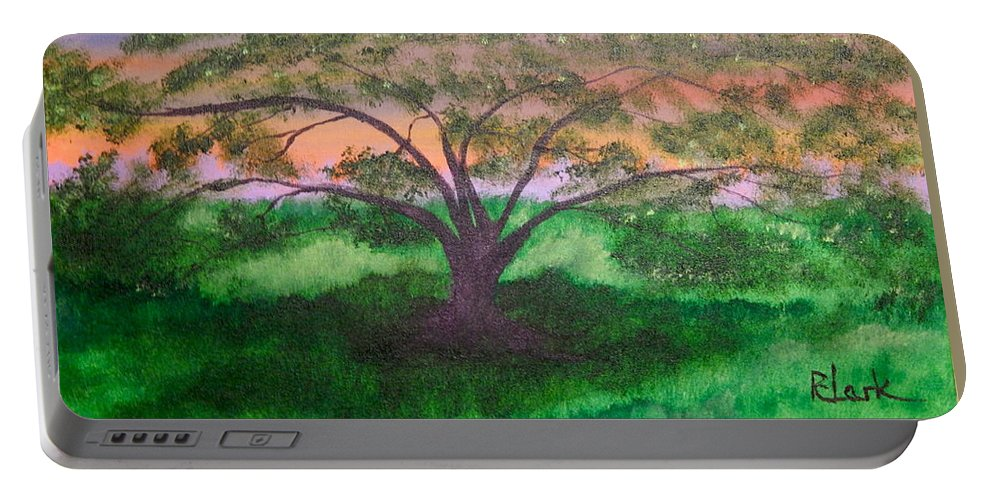 Tree Art Portable Battery Charger featuring the painting Tree Strong by Robert Clark