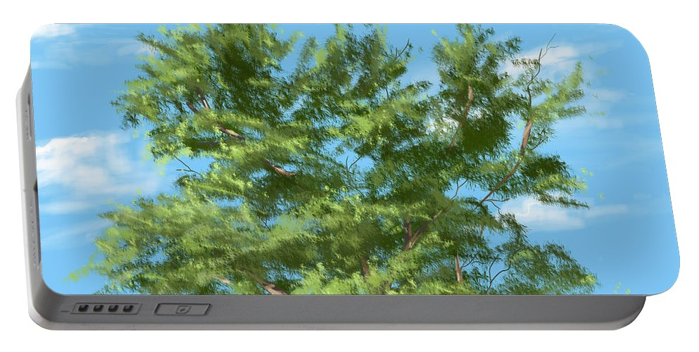Trees Portable Battery Charger featuring the painting Tree by Veronica Minozzi
