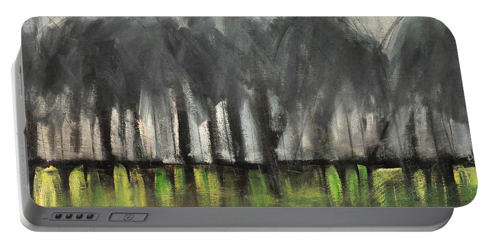 Trees Portable Battery Charger featuring the painting Treeline by Tim Nyberg