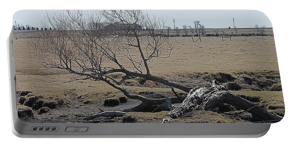 Trees Portable Battery Charger featuring the photograph Trees And Early Spring Creek by Wayne Williams