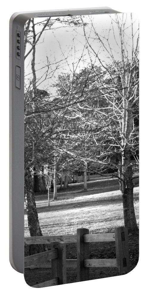 Trees Portable Battery Charger featuring the photograph Trees In The Park by Mechala Matthews