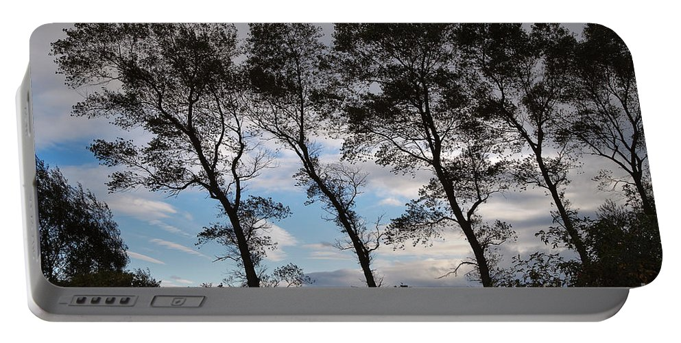 Nature Portable Battery Charger featuring the photograph Trees by Louise Heusinkveld
