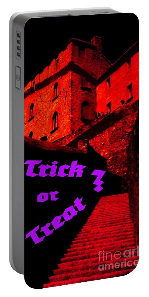 Building Portable Battery Charger featuring the digital art Trick Or Treat ? by Tim Richards