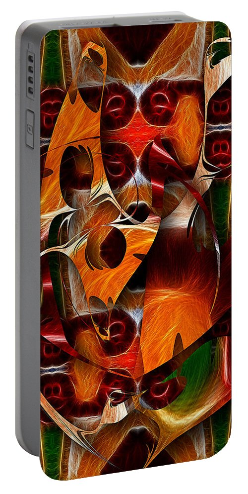 Colorful Portable Battery Charger featuring the digital art Trick Or Treat by Mike Butler
