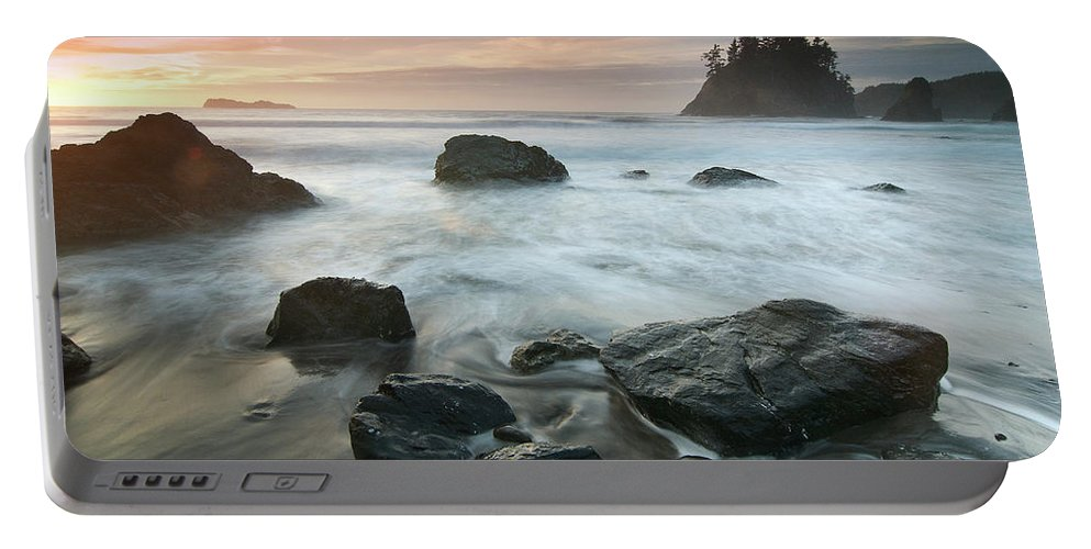 Sunset Portable Battery Charger featuring the photograph Trinidad Sunset Seascape by Greg Nyquist