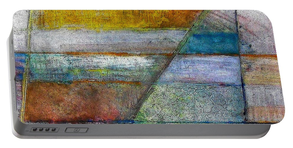 Abstract Portable Battery Charger featuring the painting Trinity 5 by James Raynor