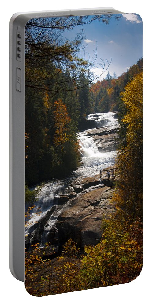 Penny Lisowski Portable Battery Charger featuring the photograph Triple Falls by Penny Lisowski