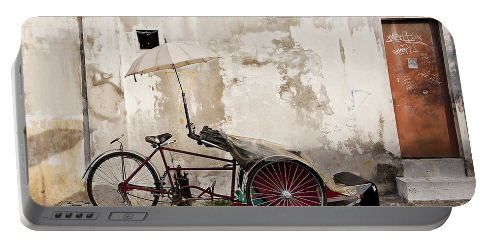 Photography Portable Battery Charger featuring the photograph Trishaw by Ivy Ho